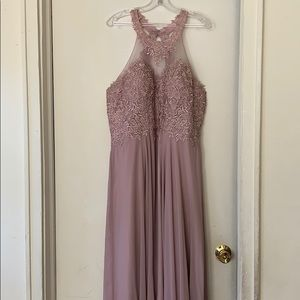 Long Mauve coloured Dress